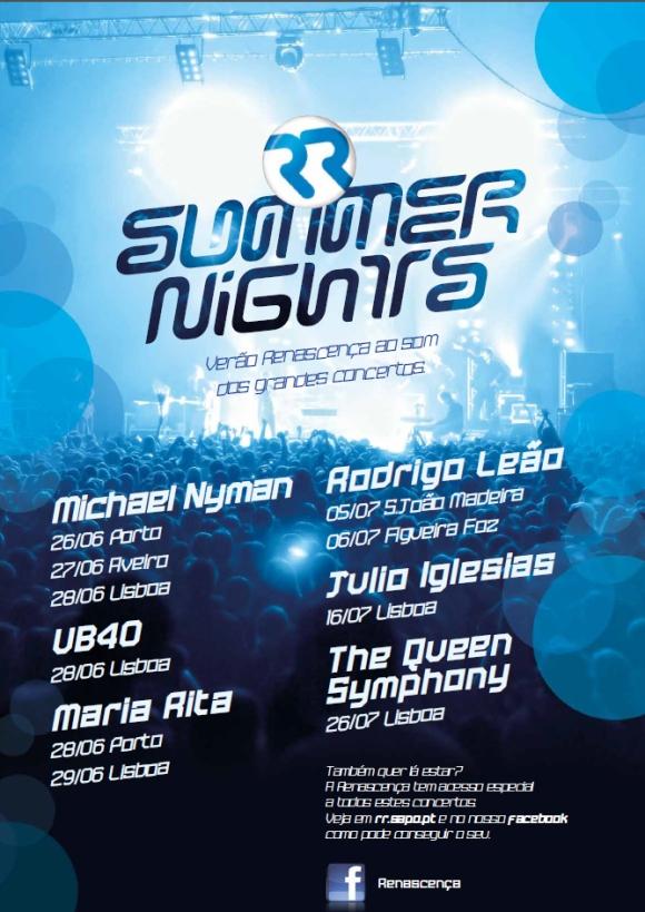 Summer Nights_Nyman,UB40,Maria Rita,Rodrigo Leao,Iglesias,Queen