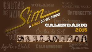 calendário Rádio SIM 2015